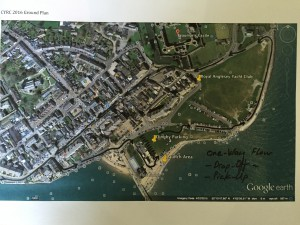 Car and boat parking map